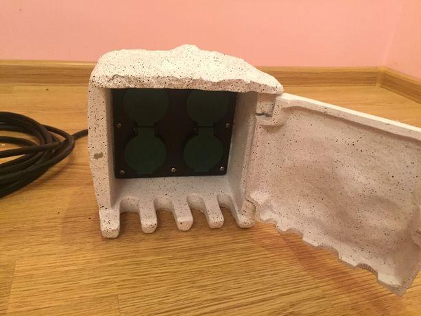 Відкритий багаторозетний смуговий роз'єм 4 розетки IP44 Камінь 1,5 м