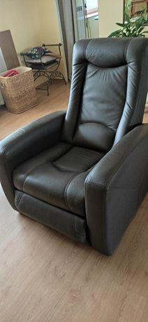 Fotel skórzany,rozkładany. ETAP SOFA