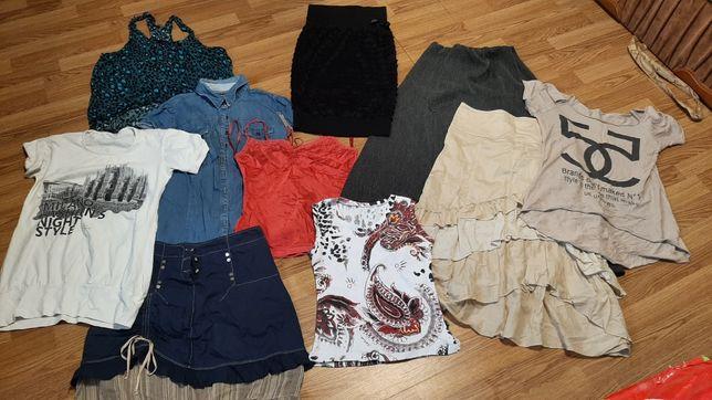 Футболка, майка, юбка, спідниця, кофла, вещи, лот, одежда