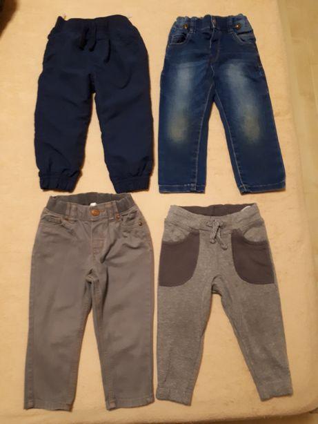 Spodnie jeansy Mayoral dresowe baggy H&M i C&A