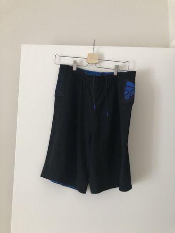 Adidas   Calções pretos e azuis   Tam. M