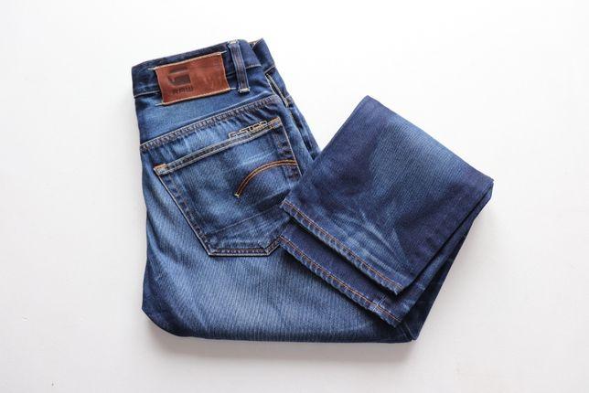 Męskie spodnie jeansowe G-STAR W31 L30 RAW 3301 jeansy jak nowe