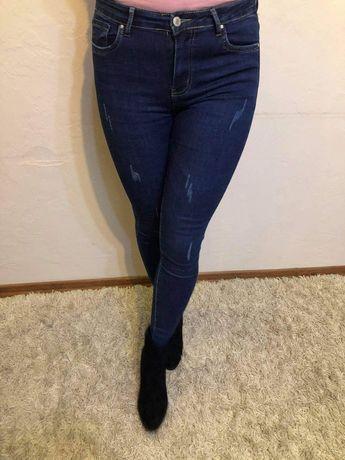 Jeansy z wysokim stanem rozmiar 36