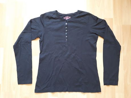 Czarna bluzka z długim rękawem firmy Pepperts rozmiar  158/164 cm