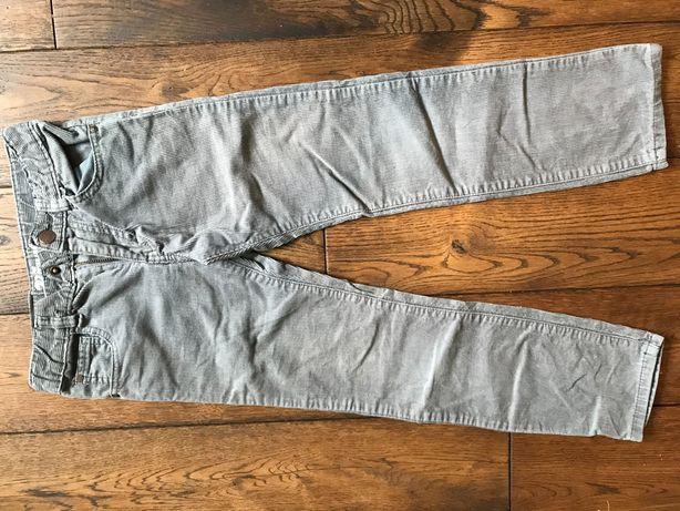 Spodnie Cubus 140 szare w stanie idealnym