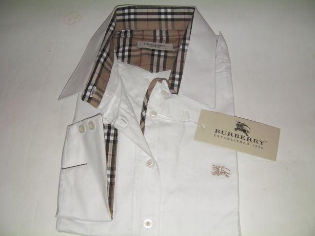 Koszula burberry biała taliowana
