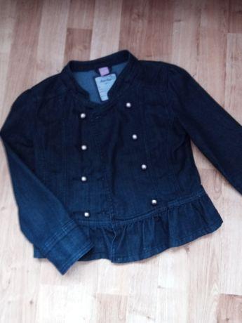 Jeansowa kurtka dziewczęca 128