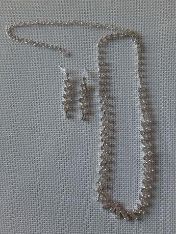 Biżuteria ślubna, naszyjnik + kolczyki.