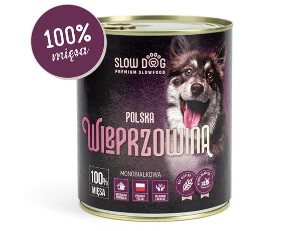 SLOW DOG - Karma mokra dla psa - Wieprzowina - 100% mięsa