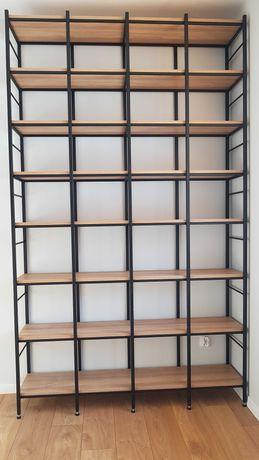 Regały loft biblioteczki półki meble na książki