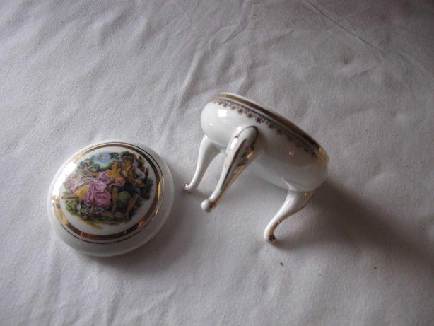 Porta jóias Limoges com 3 pernas e tampa