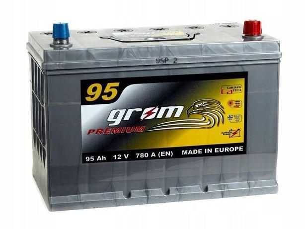 Akumulator Grom Premium 95Ah/780A Japan Prawy plus