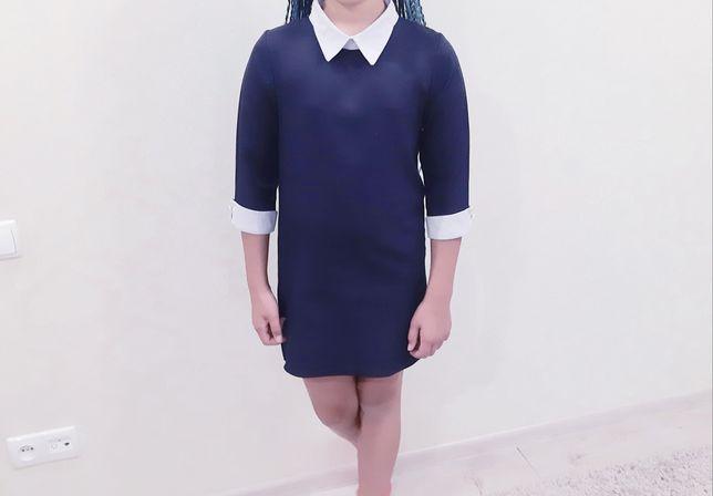 Платье школьное прямого кроя