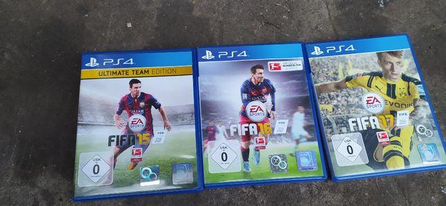 PS4 gry FIFA 15.16.17