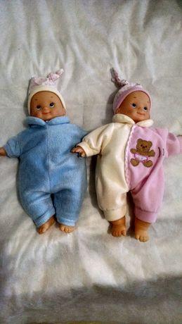 Куклы набор мальчик и девочка со сменной одеждой