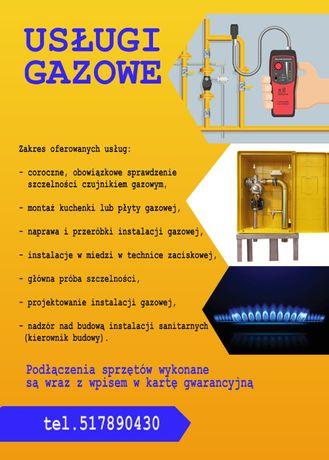 Przegląd gazowy, projekt i wykonanie instalacji gazowych Poznań