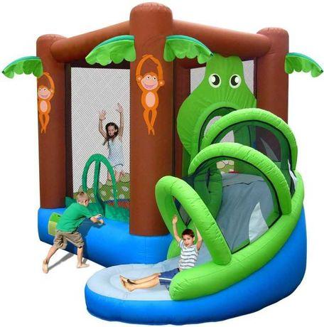 Детский надувной игровой центр (батут) Happy Hop Веселые джунгли