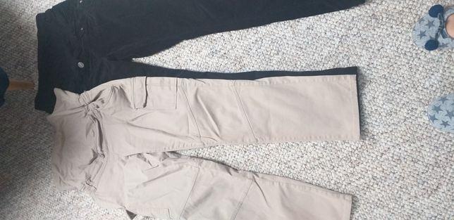 Ubrania, spodnie, bluzki ciążowe zestaw 16szt. r.36/38