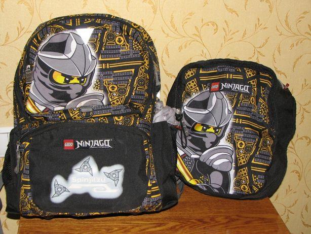 Портфель, ранец, рюкзак школьный Lego Ninjago - Коул + сумка для ланча
