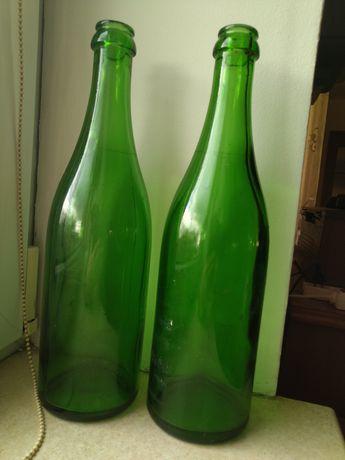Stare butelki. Butelkowa zieleń