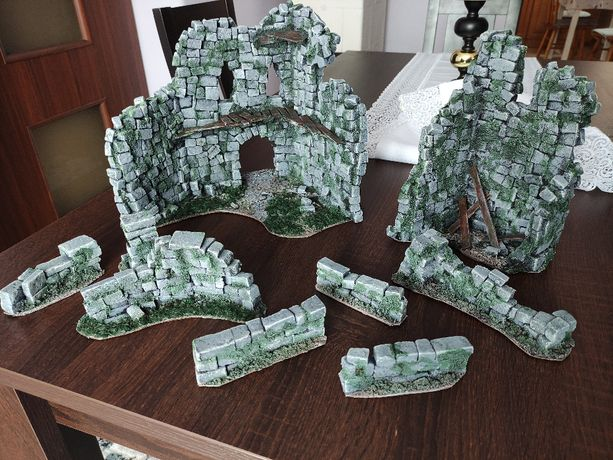 Makieta ruin zamku do gier figurkowych