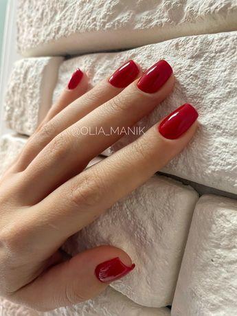 Снятие+Маникюр+покрытие=300грн Коррекция ногтей гелем Педикюр  (ДВРЗ)