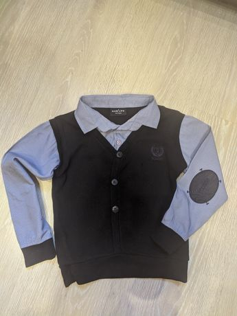 рубашка с желеткой (кофта)