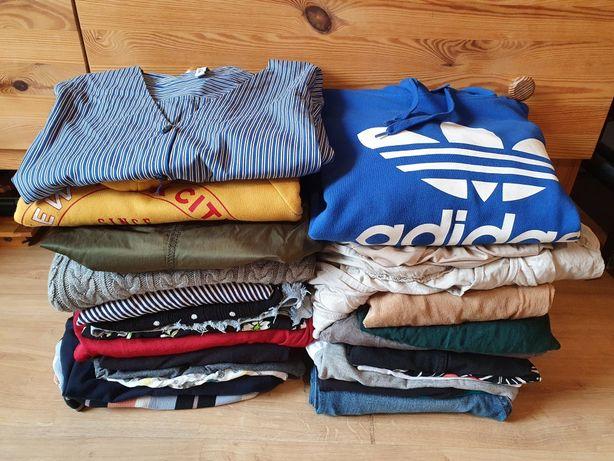 Mega paka ubrań S 36 damskich 28 sztuk adidas bluza dres Mango H&M