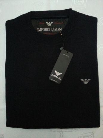 Sweterek Emporio Armani rozm: L, XL c. granat- Pure New Wool
