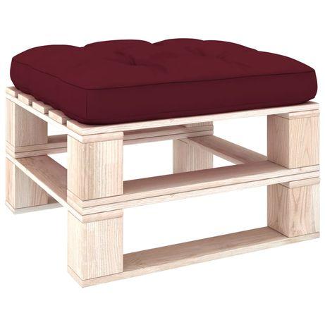 vidaXL Almofadão para sofá de paletes 70x70x12 cm vermelho tinto 314397