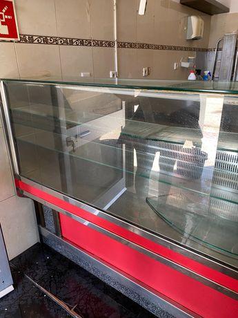 Balcão frigorífico inox café
