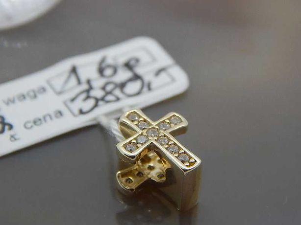 złota zawieszka charms do bransoletki typu pandora krzyżyk pr 585