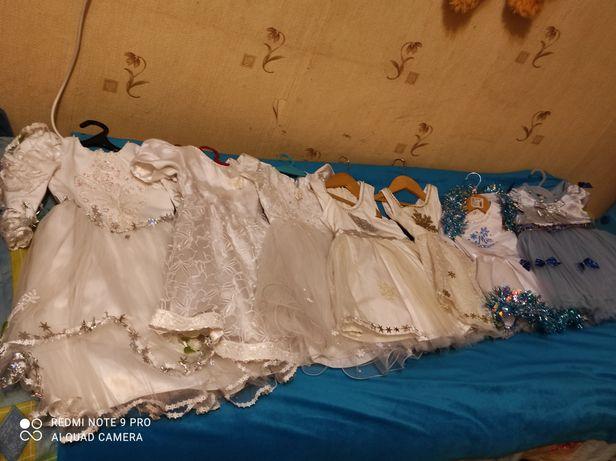 Платье новогоднее снежинка, фея сукня прокат аренда 92-116
