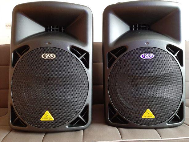 Kolumny-Głośniki Estradowe 1500W+Mikser+Kable BEHRINGER