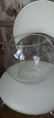 Аквариум ваза  терарриум стекло на 6 литров круглый + дно