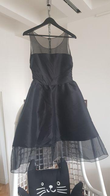 Piękna jedwabna sukienka Karl Lagerfeld for h&m r 36/38
