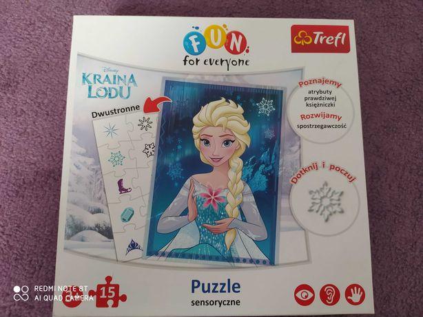 Puzzle sensoryczne Elsa Kraina Lodu