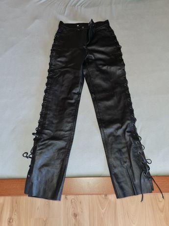 NOWE Damskie skórzane spodnie na motocykl