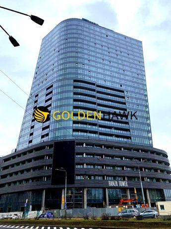 Apartament 2 pokojowy w Hanza Tower z ogromnym balk! w pełni umeblowan