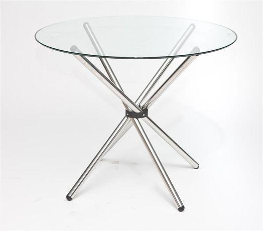 Stół okrągły szklany
