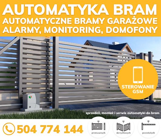 AUTOMATY DO BRAM ze sterowaniem GSM | Bramy garażowe | Napędy Domofony