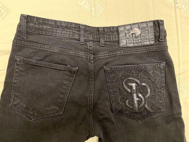 Stefano Ricci черные джинсы