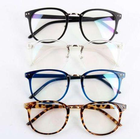 Имиджевые очки нулевки овальные круглые оправа квадратные оправа