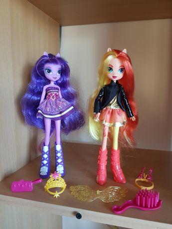 Equestria girls dwie lalki jak nowe + akcesoria