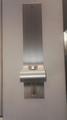 Świecznik aluminiowy, ścienny