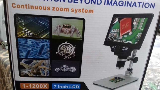 Цифровой микроскоп + (фото/видео) G1200 7'' 12МП