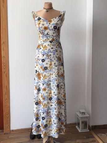 Mint&Berry sukienka maxi kwiaty floral S długa nowa z metką Wwa