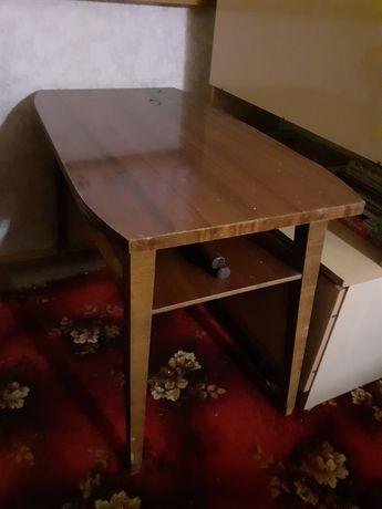 Brązowa ława / stół z półką