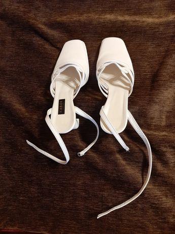 Buty ślubne białe sandały ślubne