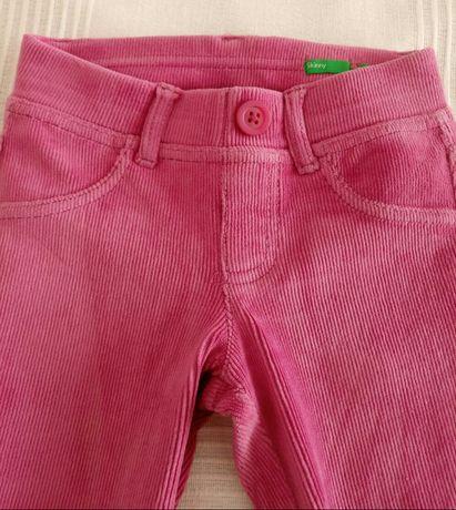 Calças da Benetton em bombazine rosa menina 2 anos
